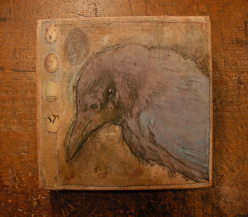 Mournful raven