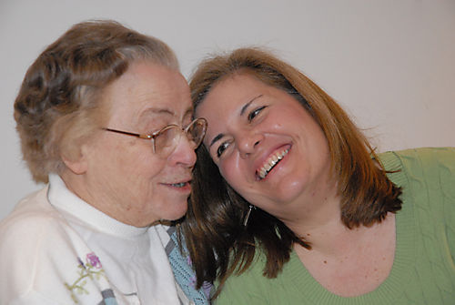 Aunt Loie and Peggy Anne
